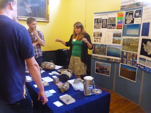 The Science Stations briefings were exceptional this one had 800,000 year old ice cores and tropical plant fossils.